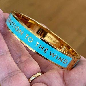 Kate Spade blue enamel gold bangle bracelet